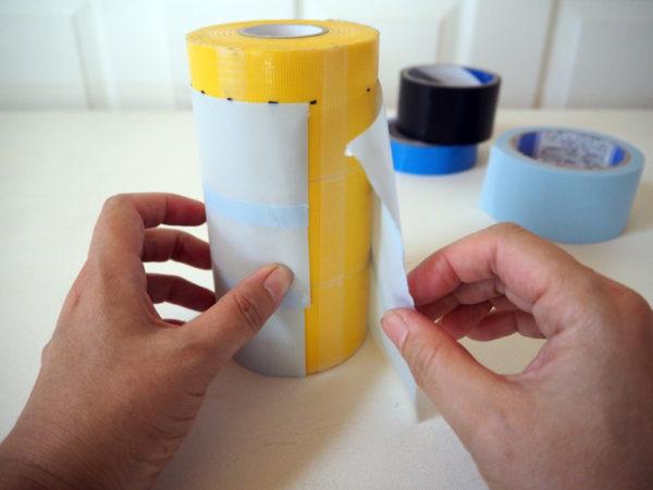 ペットボトルホルダー工作は養生テープで!