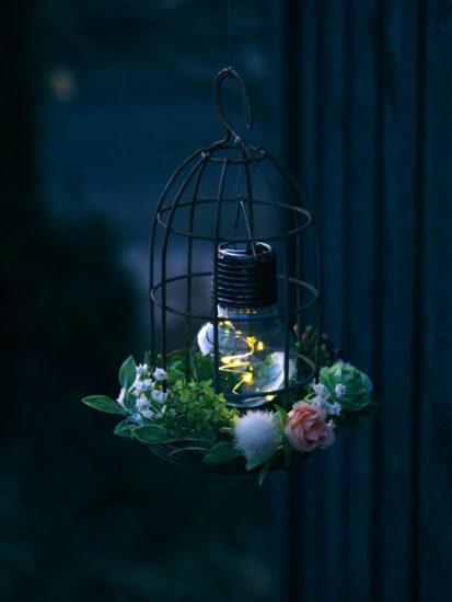 鳥かごライトDIY