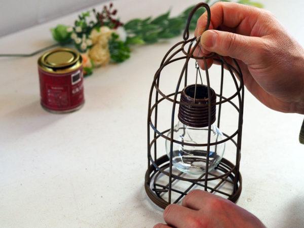 鳥かごライトDIY・作り方