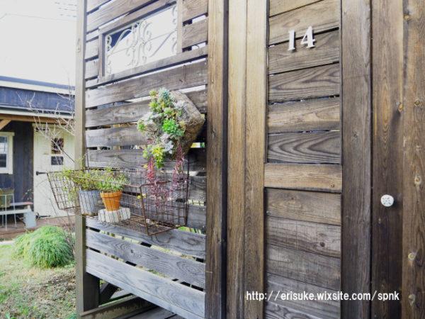 ウッドロングエコを塗ったウッドデッキの壁