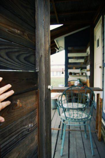 ウッドロングエコを塗ったドア