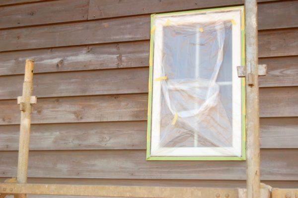外壁塗装DIY・養生