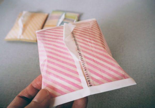 縫わないで作るポケットティッシュケース