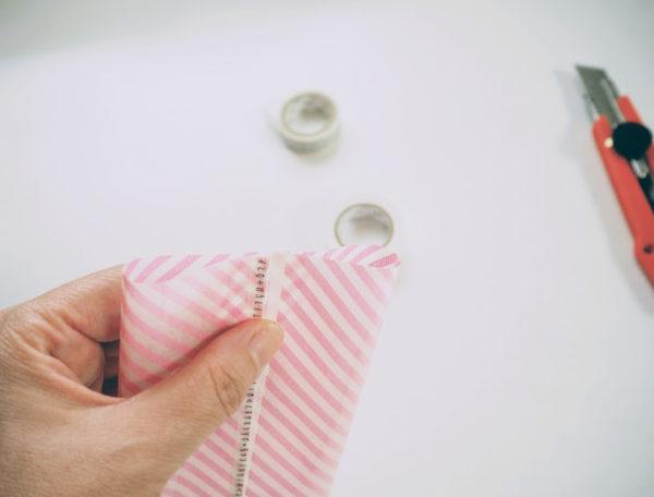 縫わないポケットティッシュケースの作り方