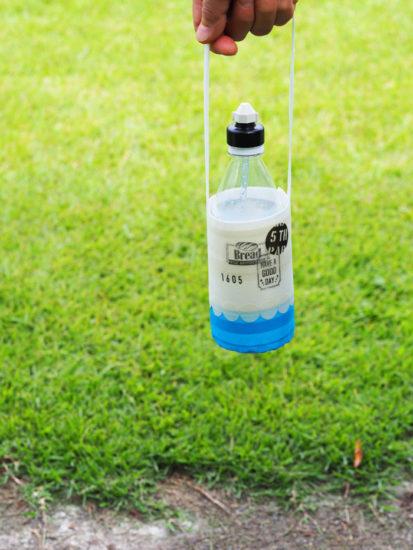 養生テープで手作りしたペットボトルホルダー