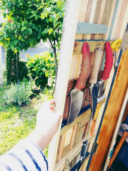 端材DIY・ガーデン収納ボックス扉を開けたところ