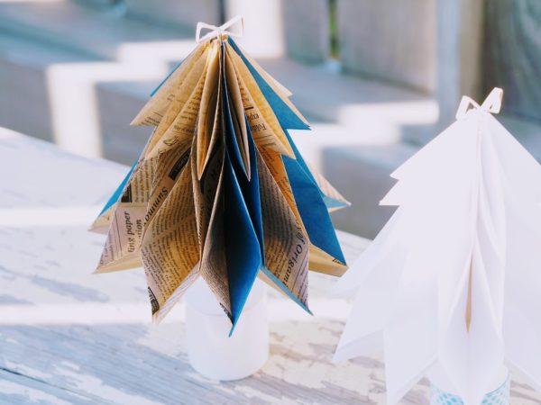 折り紙で作るクリスマスツリー