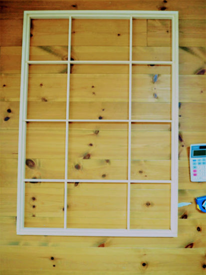 格子窓DIY