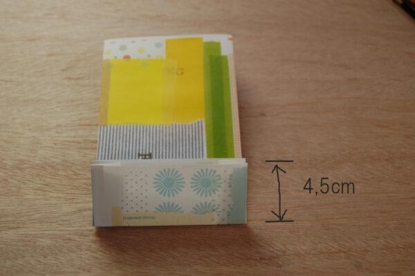 マチ付き紙袋の作り方