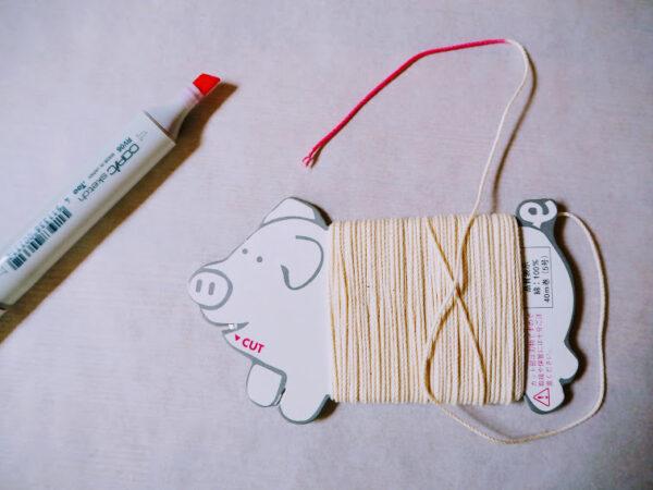 蝋引き紐の作り方