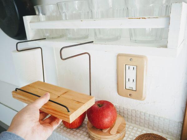 キッチン壁に棚DIY